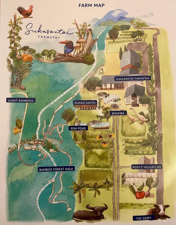 Sukasantai farmstay map Indonesia A-Z
