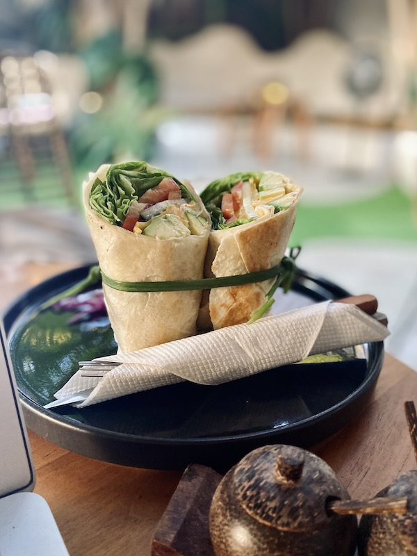 Vegetable wrap three steps cofee Indonesia A-Z